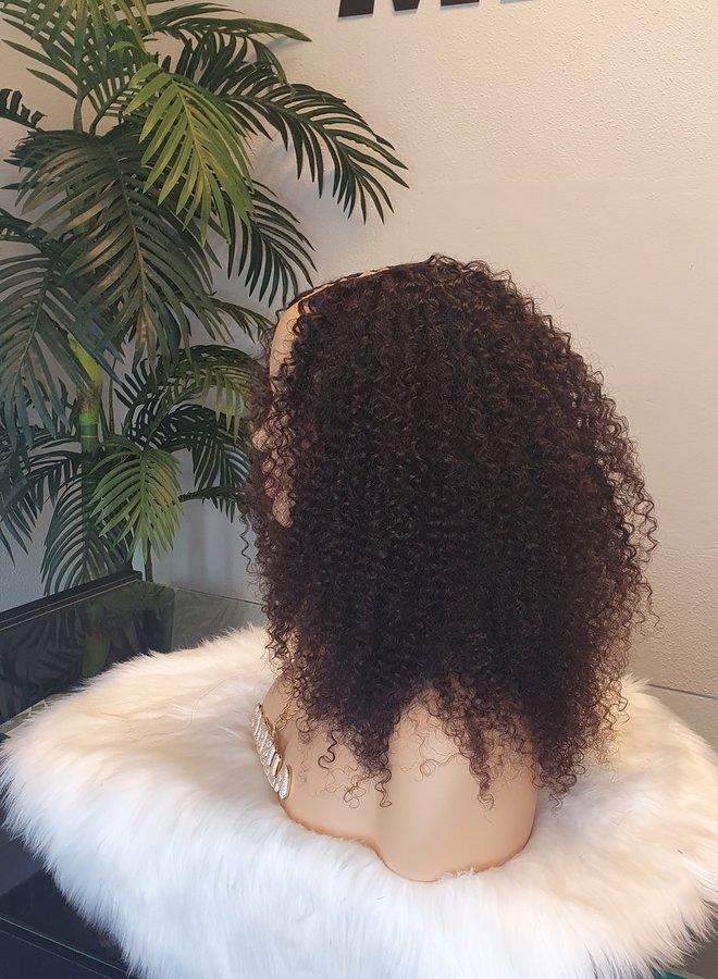 "Kinky Curly U Part Wig 16"" Raw* Indian Hair"