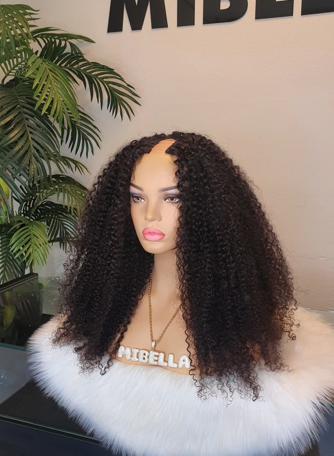 "Kinky Curly U Part Wig 20"" Raw* Indian Hair"