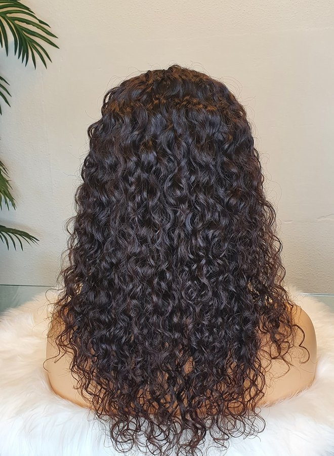 """Moroccan Curly U Part Wig 16"""" Raw* Indian Hair"""