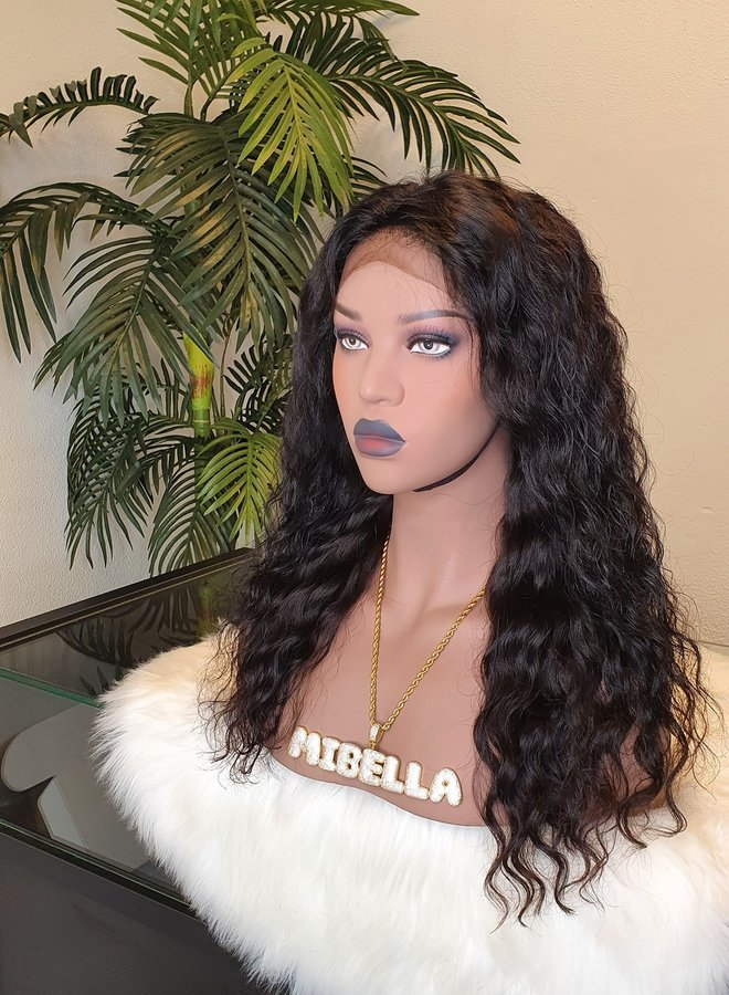 """Frontal Wig Curly Remy Hair 16"""""""