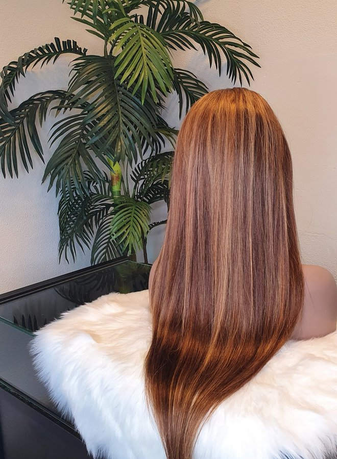 "Closure Wig Highlights 24"" Remy Hair"