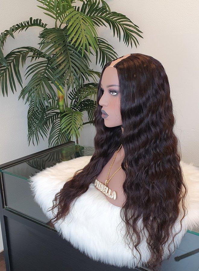 "Loose Wave U part Wig 22"" Raw* Indian Hair"