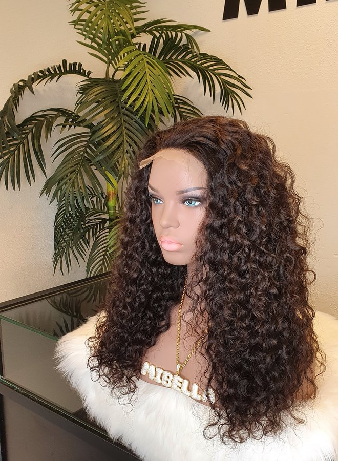 """5x5 Closure Wig Raw*  Indian Moroccan Curly 20"""" HD Lace 