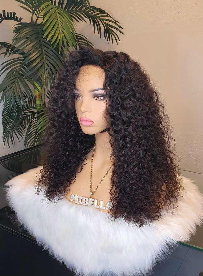 "4x4  HD Closure Wig Raw*  Indian Caribbean Curly 20"""