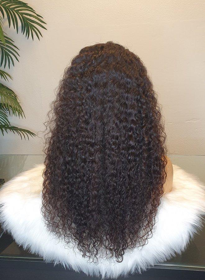 "4x4 Closure Wig Raw*  Indian Caribbean Curly 22"""