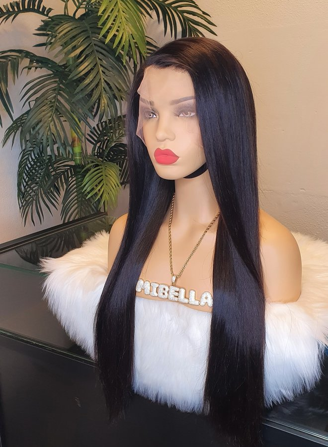 """Frontal Wig Remy Straight Hair 26"""" 