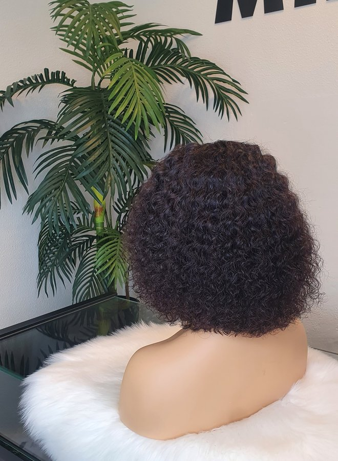 5x5 HD Closure Wig Raw*  Indian Caribbean Bob Curly