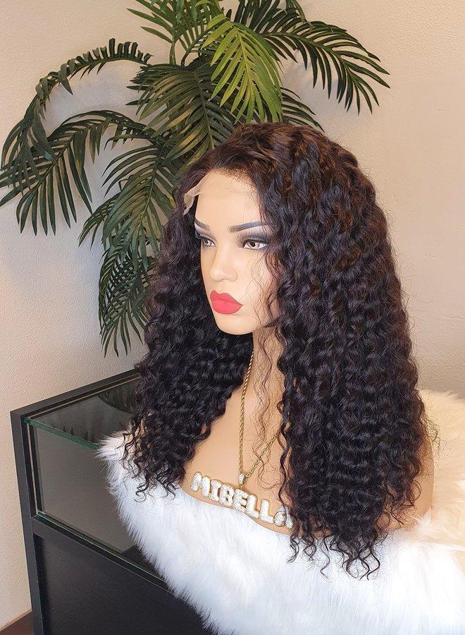 "HD Closure Wig Curly Remy Hair 18"" | 350 gram"