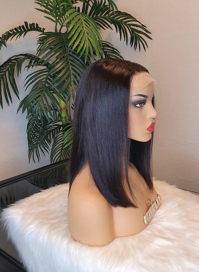5x5 Transparante Closure Wig Raw Indian Straight