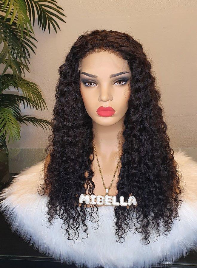 "5x5 HD Closure Wig Curly Remy Hair 20""   350 gram"