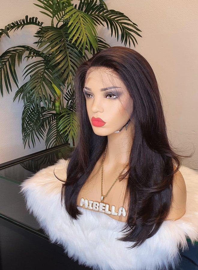 "Transparante Frontal Wig Raw Vietnamese Straight 16"""
