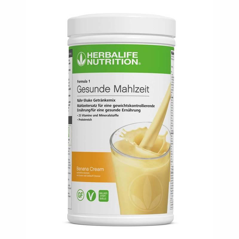 Herbalife Formula 1 Nähr-Shake Getränkemix - Banana Cream - Vegane Zutaten