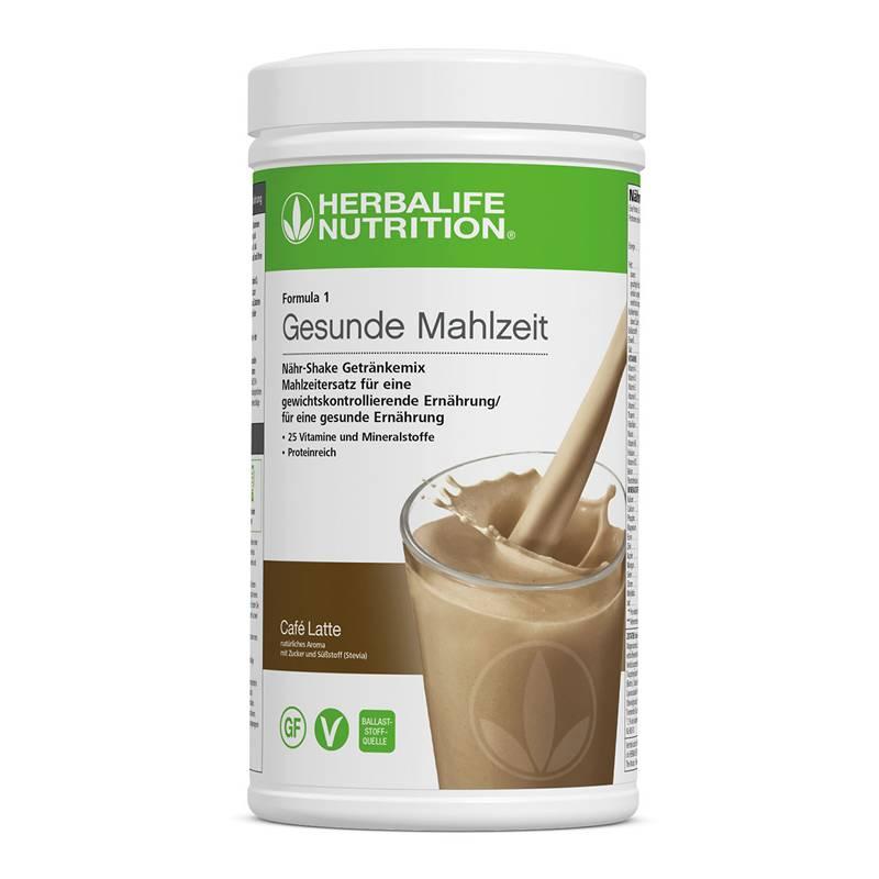 Herbalife Formula 1 Nähr-Shake Getränkemix - Café Latte - Vegane Zutaten