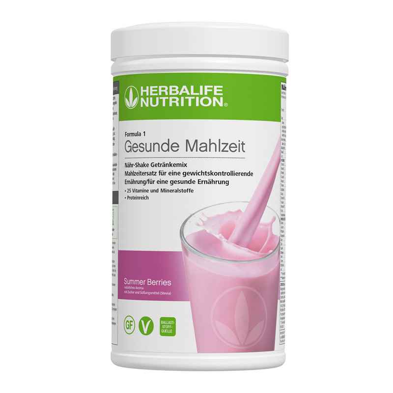 Herbalife Formula 1 Nähr-Shake Getränkemix - Summer Berries - Vegane Zutaten