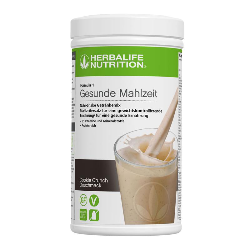 Herbalife Formula 1 Nähr-Shake Getränkemix - Cookie Crunch - Vegane Zutaten
