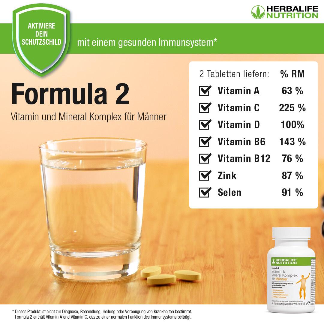 Vitamin & Mineral Complex Uomo - Herbalife Formula 2