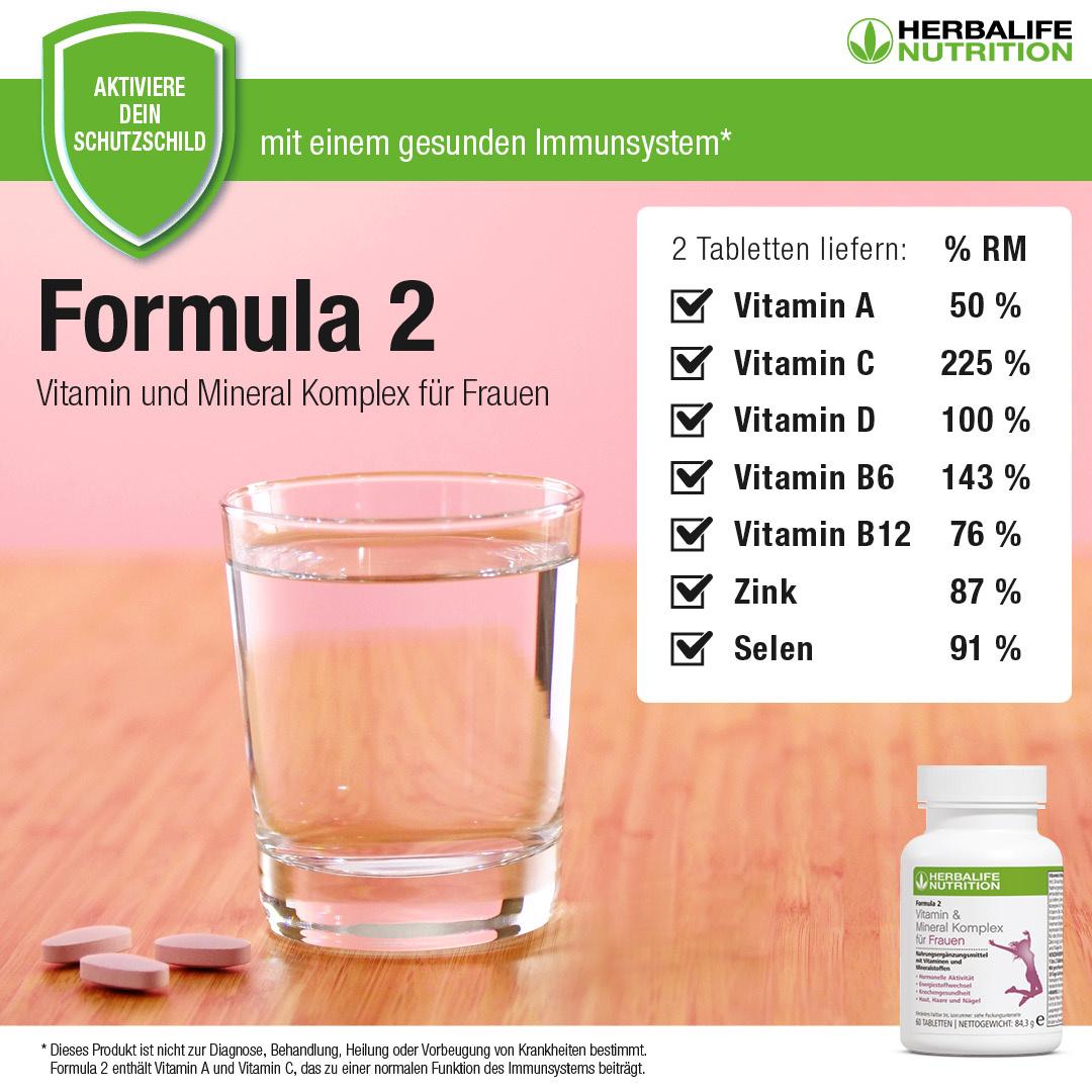 Vitamin & Mineral Komplex für Frauen - Herbalife Formula 2