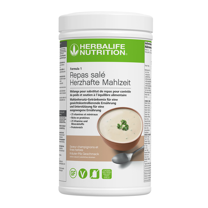Herbalife Formula 1 Herzhafte Mahlzeit– Kräuter-Pilz Geschmack – vegane Zutaten