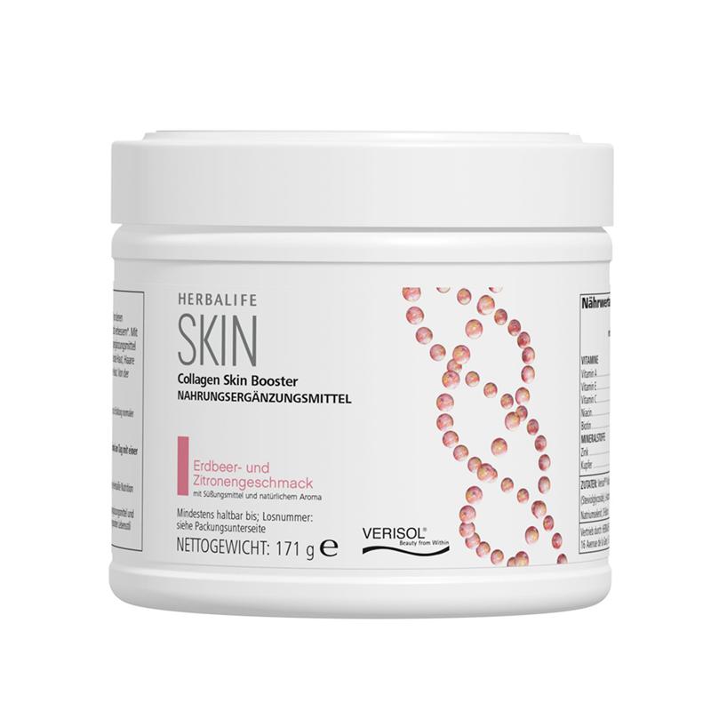 Herbalife Collagen Skin Booster- Erdbeer - und Zitronengeschmack - Enthält Verisol® P