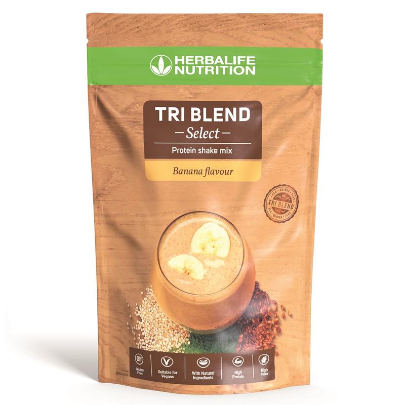 Herbalife Tri-Blend Select - Protein-Getränkemix Banane 600 g– vegane Zutaten