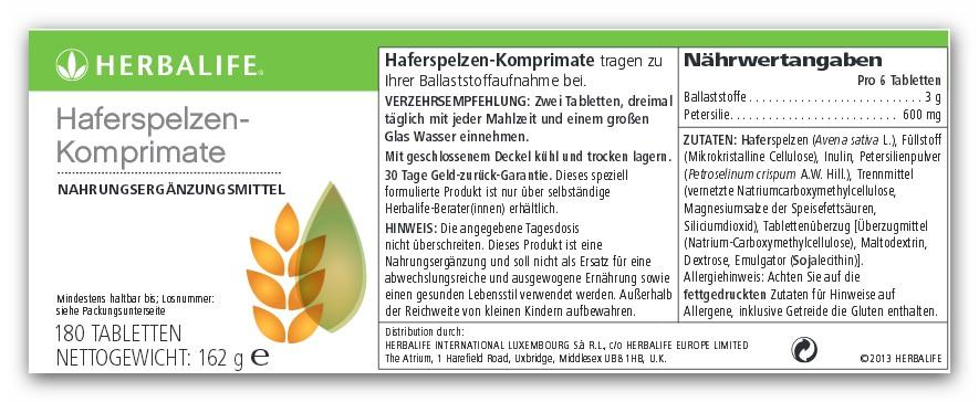 Haferspelzen-Komprimate von HERBALIFE online kaufen