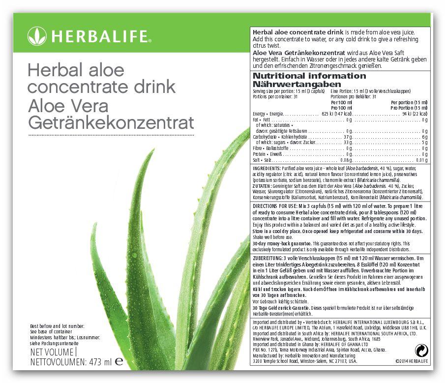 Herbalife Concentrado herbal aloe Original 473 ml