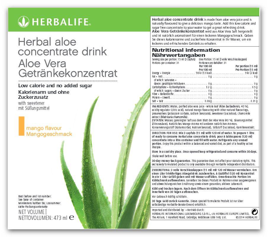 Herbalife Aloe Concentrato alle Erbe 473ml - Gusto Mango