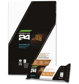 Herbalife 24 - Barritas de Proteínas Achieve - Galleta y trocitos de chocolate