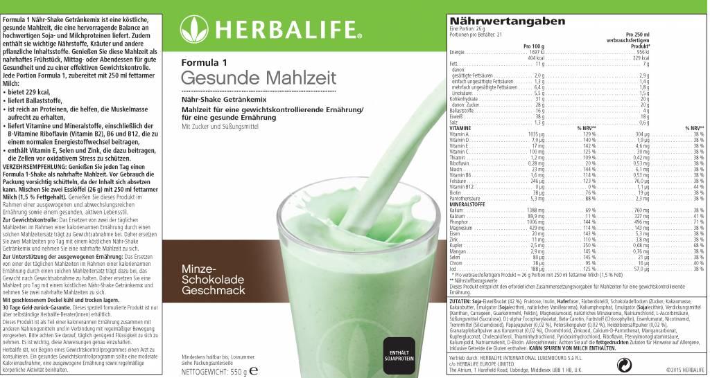 Herbalife Formula 1 Shake 2789 - Menta e cioccolato