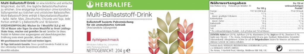 Herbalife Multi-Ballaststoff-Drink - Apfelgeschmack online kaufen - NEU: Ohne Zucker
