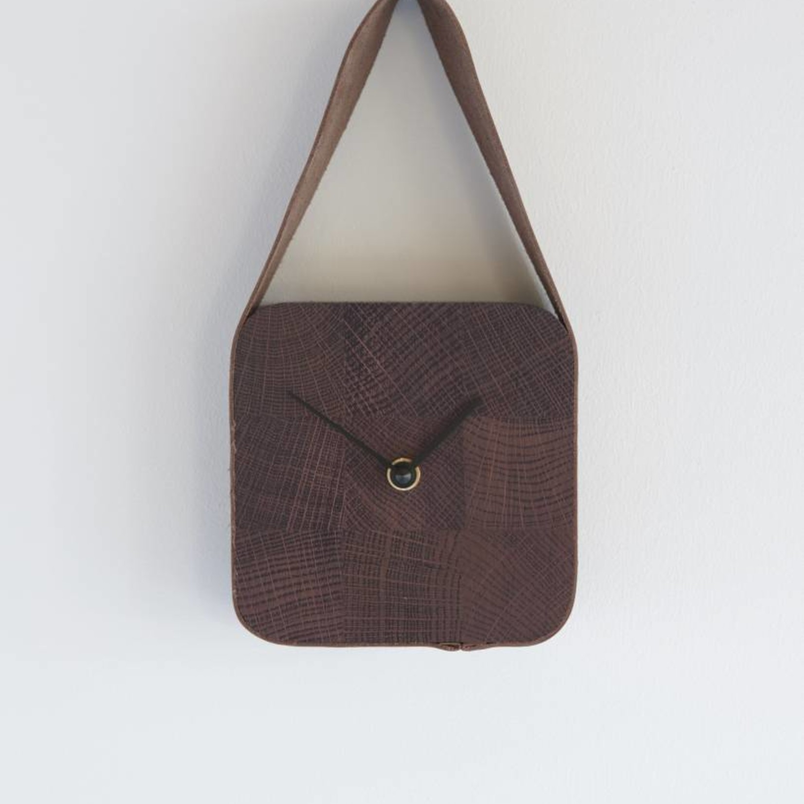 LABEL | Vandenberg Look Klok (vierkant) - Nova Zembla Acorn &  Deep Purper hout