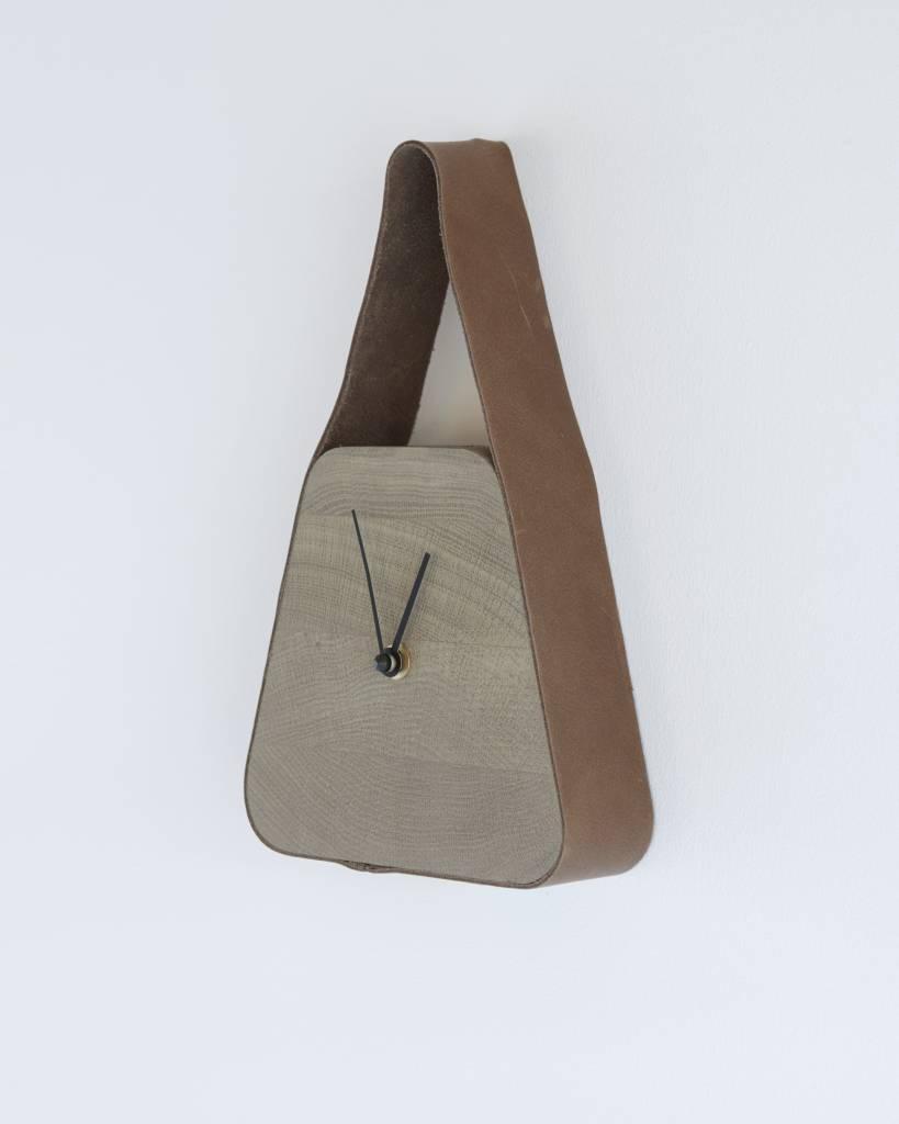 Look clock (wide under) - Nova Zembla Bison & Palm Grey wood