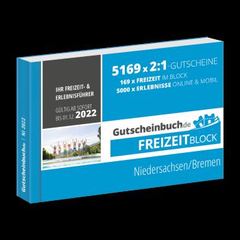 Freizeitblock Niedersachsen/Bremen 2021/22 - Gültig bis 01.12.2022 - Gutscheinbuch Schlemmerblock -