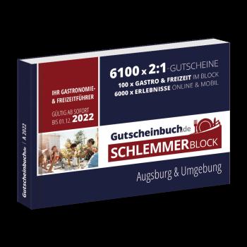 Schlemmerblock Augsburg & Umgebung 2022 - Gutscheinbuch 2022 -