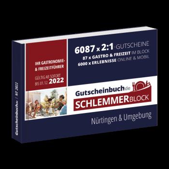 Schlemmerblock Nürtingen & Umgebung 2022 - Gutscheinbuch 2022 -