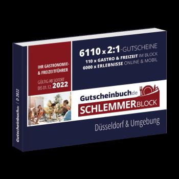 Schlemmerblock Düsseldorf & Umgebung 2022 - Gutscheinbuch 2022 -