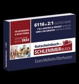 Schlemmerblock Essen/Mülheim/Oberhausen 2022 - Gutscheinbuch 2022 -