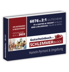Schlemmerblock Hameln-Pyrmont & Umgebung 2022 - Gutscheinbuch 2022 -