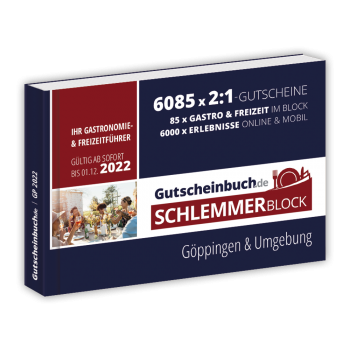 Schlemmerblock Göppingen & Umgebung 2022 - Gutscheinbuch 2022 -