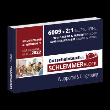 Schlemmerblock Wuppertal & Umgebung 2022 - Gutscheinbuch 2022 -