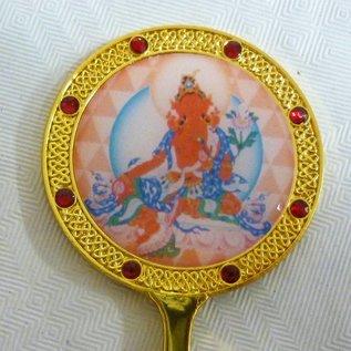 Anhänger Spiegel Rote Tara für Autorität, Glück und Schutz ca. 7x4cm
