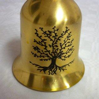 Glocke 5-Elemente-Pagode mit Baum des Lebens und Om Ah Hum ca. 15x6,5cm