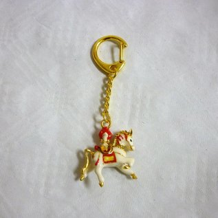 Windhorse carrying flaming jewel keychain