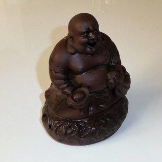 Keramikfigur lachender Buddha für Räucherkerzen , ca.20x10cm