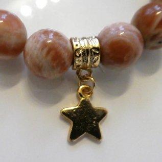 Armband Sonnenstein ( Aventurin ) mit Stern