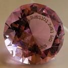 Kristall mit Mantra rosa