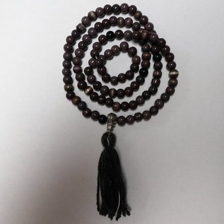 Rosary of tiger-eyed beads for Mantras