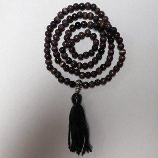 Rosenkranz aus Tigerauge-Perlen für Mantras