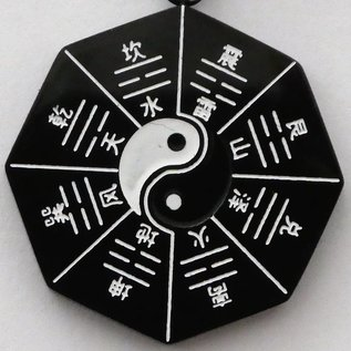 Jin-Yang-Anhänger mit Trigrammen ca,25mm