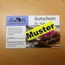 Gutschein 25,- EUR